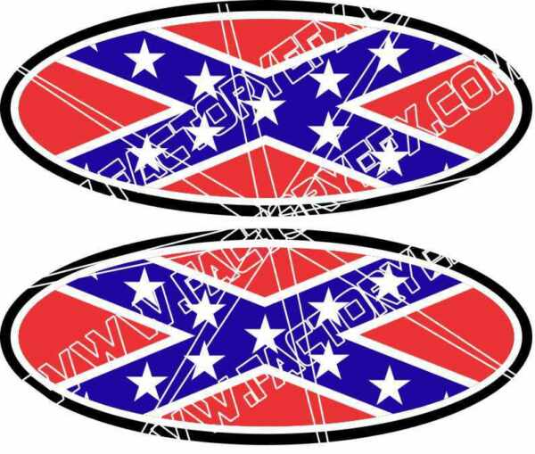 Conderate Flag Ford Decal Emblems f250 f350 F150 Ranger Excursion REDNECK 04-11