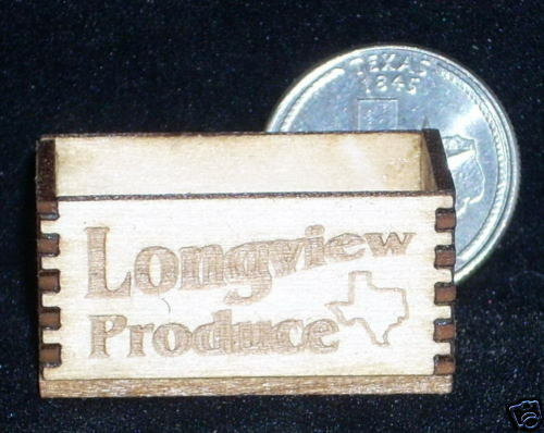 Dollhouse Miniature Longview Texas Produce Crate 1:12 Market  Grocery Store Farm