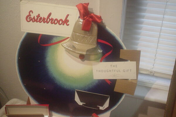 1955 ESTERBROOK PENS CHRISTMAS MOTION MERCANTILE STORE DISPLAY VINTAGE