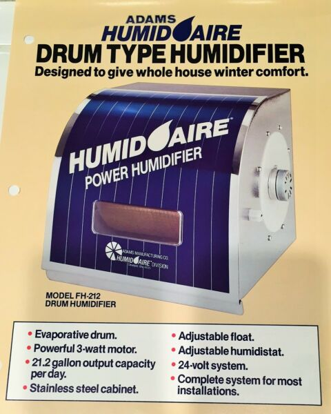 Whole House HUMIDAIRE Furnace Humidifier Enjoy Aprilaire Now Stainless Steel