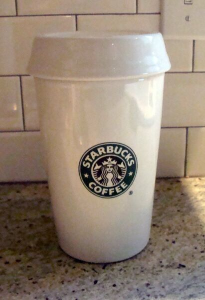 NEW  PROMO Starbucks Barista 2000 Ceramic To Go Cup Coffee Canister Mermaid Rare