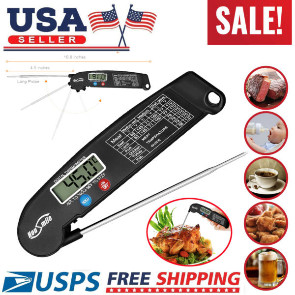Instant Read Digital Food Meat Thermometer LCD Cooking BBQ Thermometer Kitchen