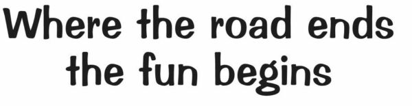 WHERE THE ROAD ENDS THE FUN BEGINS STICKER 4X4 MUD DIRT TRUCK CHOOSE COLOR $2.75