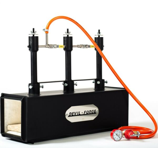DFPROF3 Gas Propane Forge for Knifemaking Farriers Blacksmiths Furnace Burner
