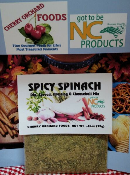 Spicy Spinach Dip Mix, makes dips, spreads, cheese balls & salad dressings