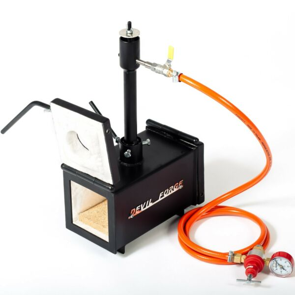 DFPROF1+2D Gas Propane Forge for Knifemaking Farriers Blacksmiths Furnace Burner