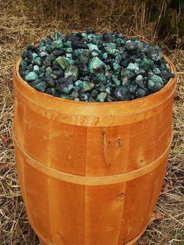 500 Carat Lots of Unsearched Natural Emerald Rough a FREE faceted gemstone