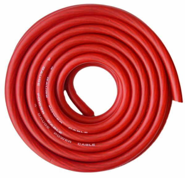 4 Gauge Wire Red Amplifier PowerGround 4 Ga Amp Wire 25 Feet Cable Roll