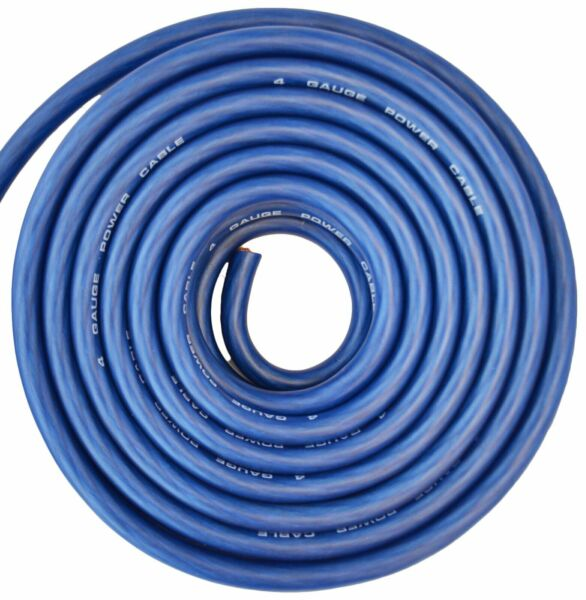 4 Gauge Wire Blue Amplifier PowerGround 4 Ga Amp Wire 25 Feet Cable Roll