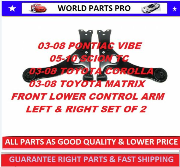 Front LOWER Control Arm FOR 2003-2008 TOYOTA COROLLA(FITS SCION TC 05-10) PAIR