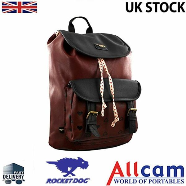 Rocket Dog Leatherette Casual Bluebell Backpack for woman in Burgundy New