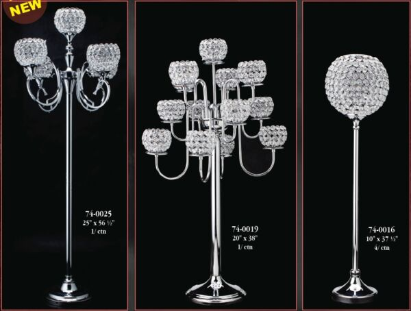Crystal Decor Home Wedding Venue Candle Holders Vases Table Chandeliers Premium