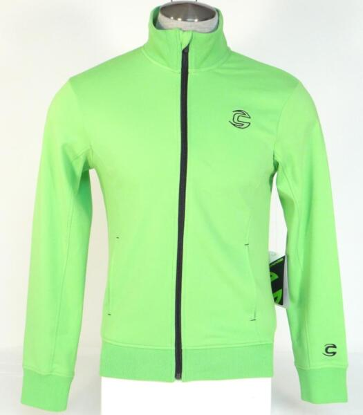 Cannondale Men#x27;s Bright Green Zip Front Stretch Track Jacket Men#x27;s 884603433720 $71.24