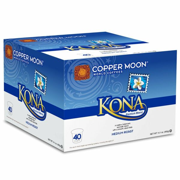 Copper Moon Kona Blend Single Cup Pod for Single Cup Brewing System 40 Count