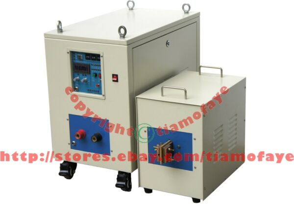 40KW 20-50KHz Dual Station Super Audio Frequency Induction Heater Melter Furnace