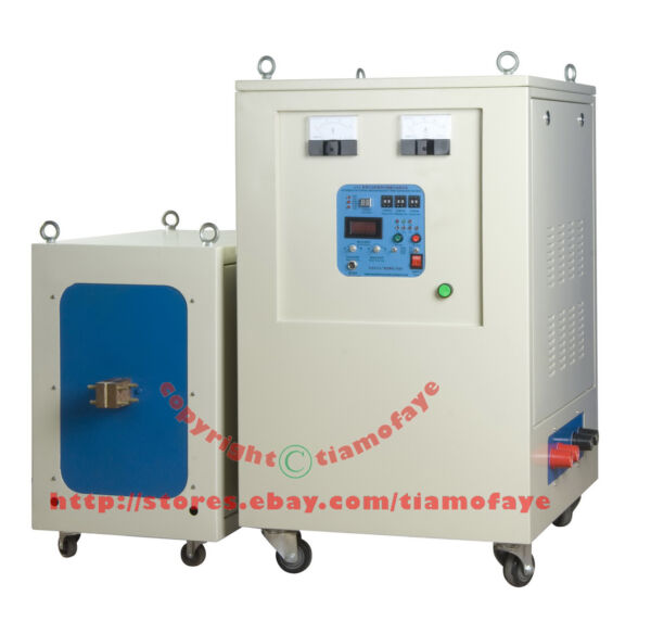 80KW 20-50KHz Dual Station Super Audio Frequency Induction Heater Melter Furnace