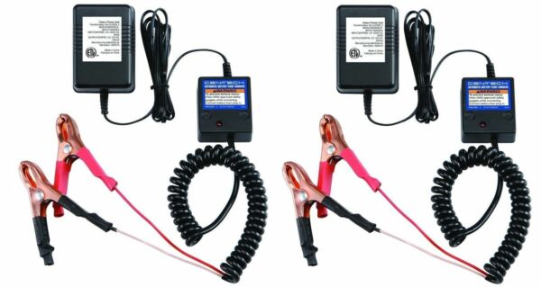 2 Pack 12 Volt Automatic Car Battery Float Trickle Charger
