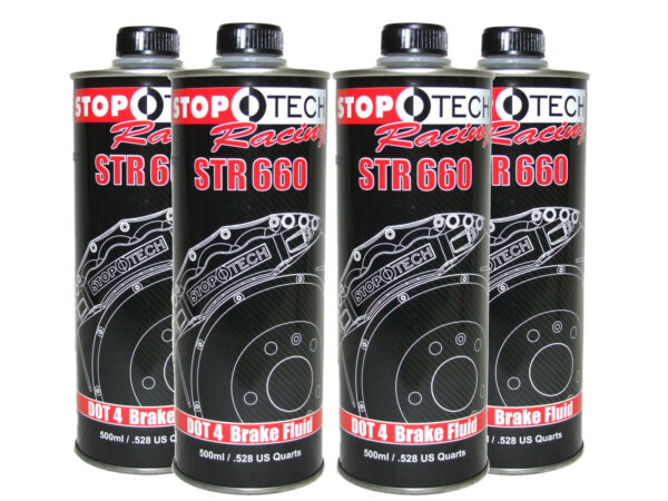 (4x 500mL Cans) Stoptech Racing STR660 High Performance 622F DOT 4 Brake Fluid