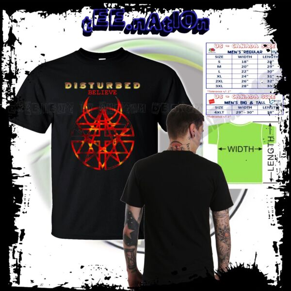 new DISTURBED new band Logo Rock Alternative Heavy Nu Metal band Mens S to 4XLT