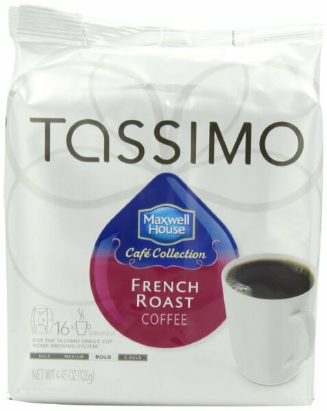 Maxwell House Cafe Collection French Roast Coffee T-Discs for Tassimo Coffeemak