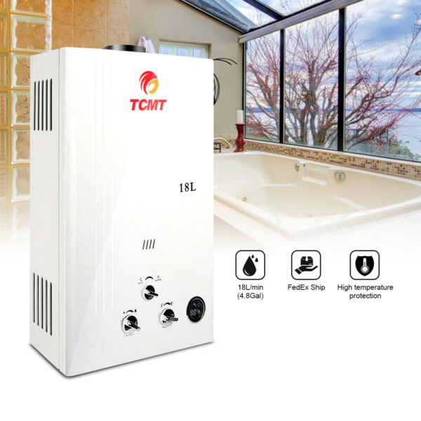 4.8GPM 18L Tankless LPG Liquid Propane Gas House Instant Hot Water Heater Boiler
