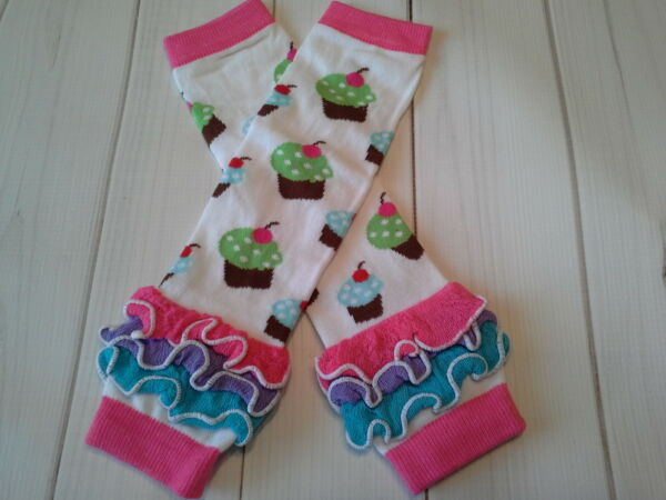 baby girl leg warmers infant child cupcake cake smash photo prop legs