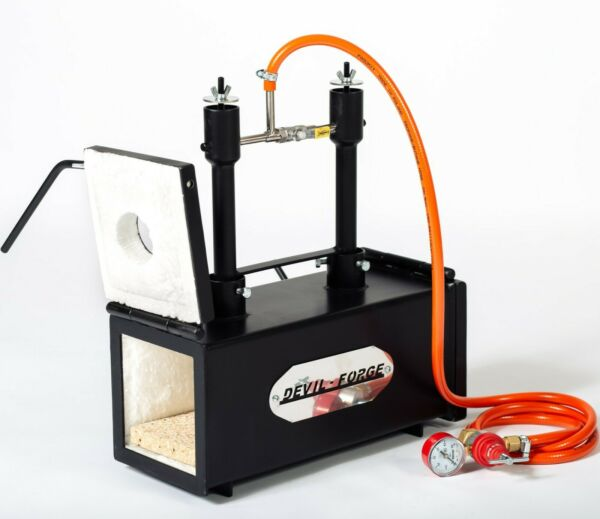 DFPROF2+2D Gas Propane Forge for Knifemaking Farriers Blacksmiths Furnace Burner