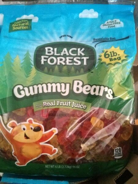 Gummy Bears 96oz ( 6 lbs ) BagBlack Forest5 Fantastic FlavorsGummi Candy bear