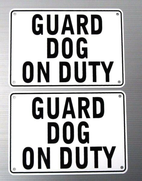 quot;GUARD DOG ON DUTYquot; WARNING SIGN 2 SIGN SETHEAVY METAL $16.18