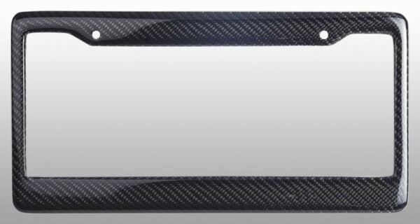 Real 100% Carbon Fiber License Plate Frame Tag Cover Orignal 3K With Free Caps $17.50