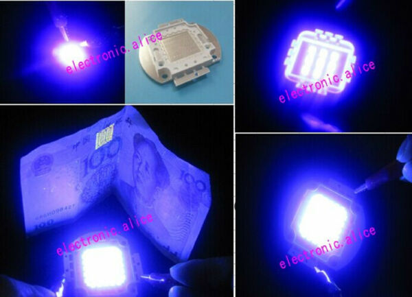 3w 5w 10w 20w 30w 50w 100w UV Ultra Violet High power LED Chip 395nm F Aquarium $21.55