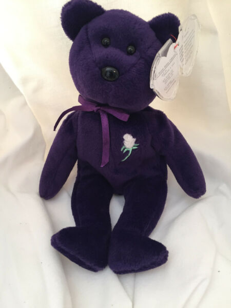 PRINCESS DIANA 1st Edition Beanie Baby (Ghost Version) PVC MUST READ!!