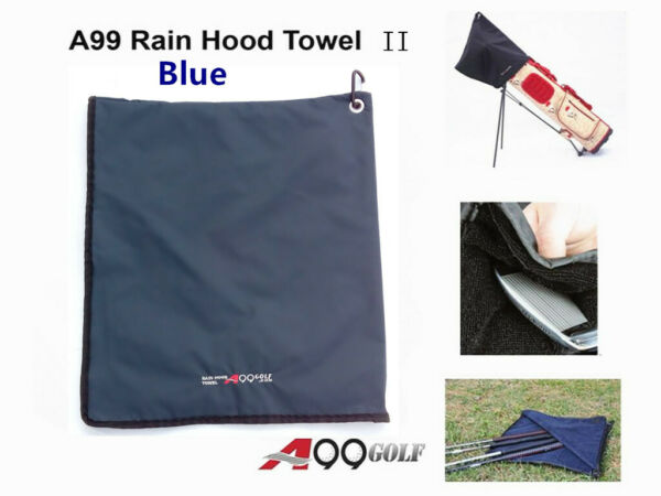 A99 Golf Rain Hood Towel Waterproof Golf Bag Cover Black