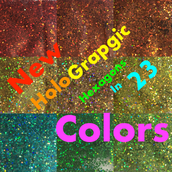 Chunky Hex .035 1mm Glitter Craft art Nail Scrapbook Decor Cards paper lot holo