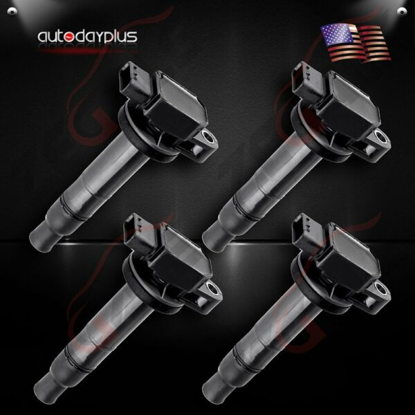 Set of 4 Ignition Coils on Plug Pack for 04 05 06 Scion xA xB Toyota 1.5L