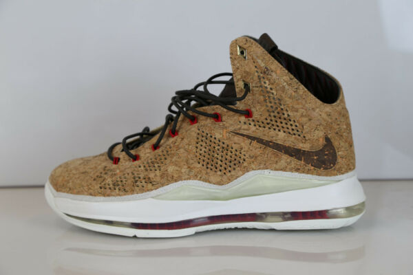 Nike Lebron X EXT Cork QS 580890-200 10.5 air max 10 supreme 11 12 1