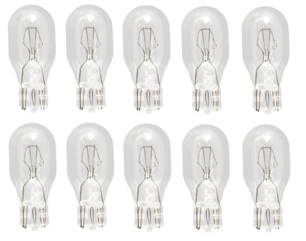 (Pack of 10) 921 Light Bulb Auto Car Miniature Replacement Lamp 12v T5 Lot