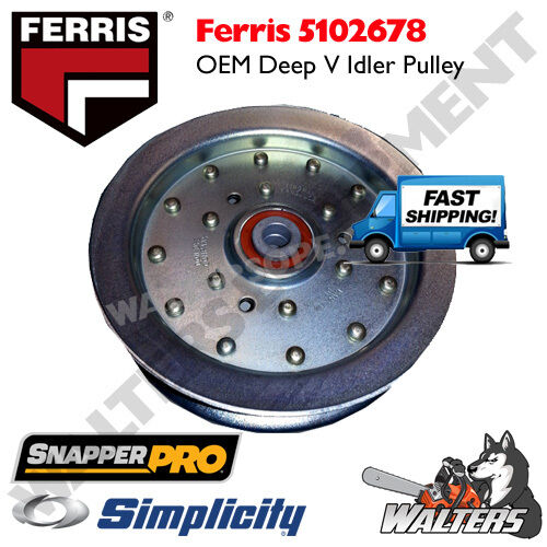 Genuine OEM Pulley 5102678 5104716 for Ferris Simplicity Snapper Pro