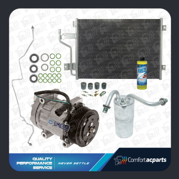 New AC A/C Compressor Kit Fits: 1998 - 2002 Dodge Ram 2500 / 3500 5.9L Cummins