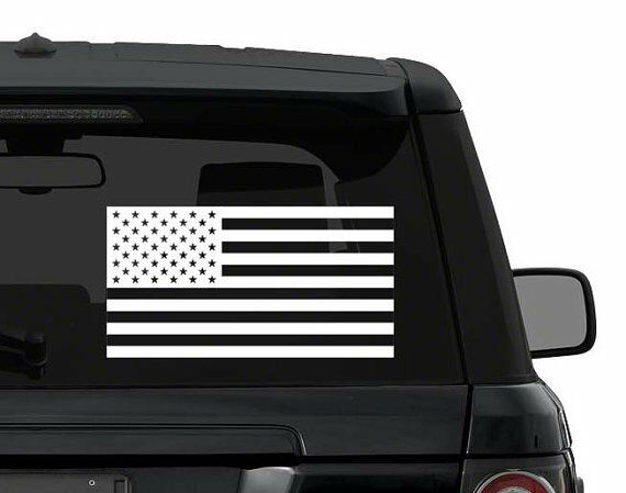 US AMERICAN FLAG subdued decal sticker ANY COLOR  for car, truck, jeep,yeti