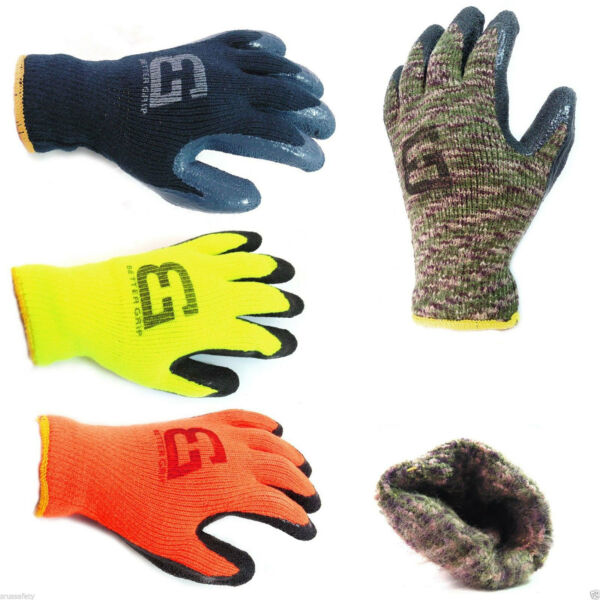 Better Grip Insulated Winter Rubber-Coated Gloves -Crinkle Finished-BGWLAC