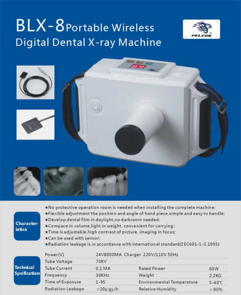 Dental portable Wireless BLX-8 Oral X-ray Machine Rechargeable Digital Frequency