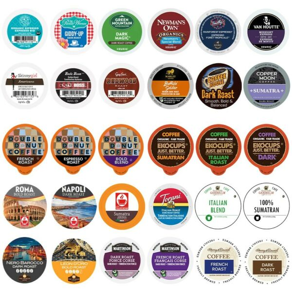 Extra Bold & Dark Roast Coffee For K cups Brewer variety pack sampler30-Count