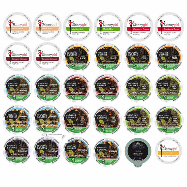 Tea Single Serve cups for Keurig 2.0 K Cups Brewer Variety Pack Sampler30-ct