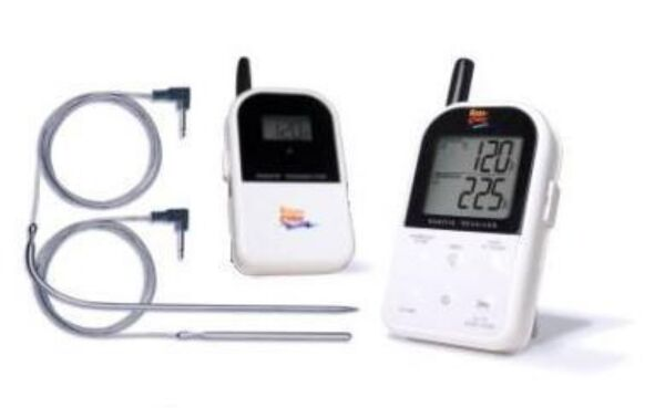 2- Probe LONG RANGE WIRELESSRemote Outdoor PipeBoilerWood Furnace Thermometer