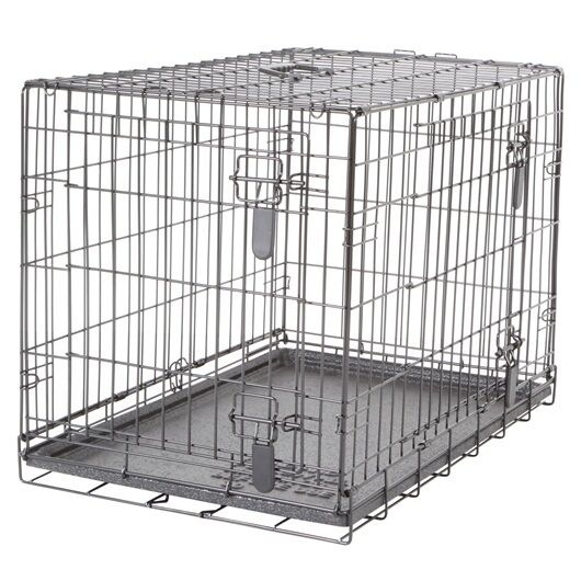 Dogit Two Door Black Wire Home Dog Crates with divider Medium 30 x 19 x 21.5 in $63.99
