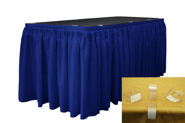 LA Linen Polyester Table Skirt 21-Ft L by 29