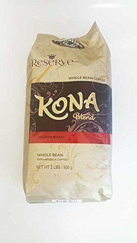 Hawaiian Gold Kona Coffee - 2 Lb Bag of Gourmet Coffee Beans New Free Shipping