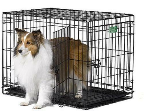 MidWest Homes for Pets Large Crate Double Folding Door Kennel amp; Dog Safe Cage
