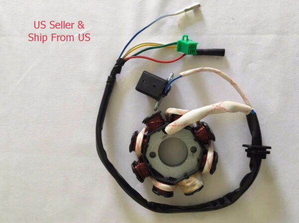 DC Stator Magneto 8 Coils For GY6 110cc 125cc 150cc Moped Scooter 5 wires $13.99